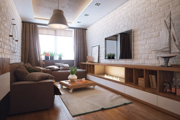 Маленькая гостиная с двумя диванами