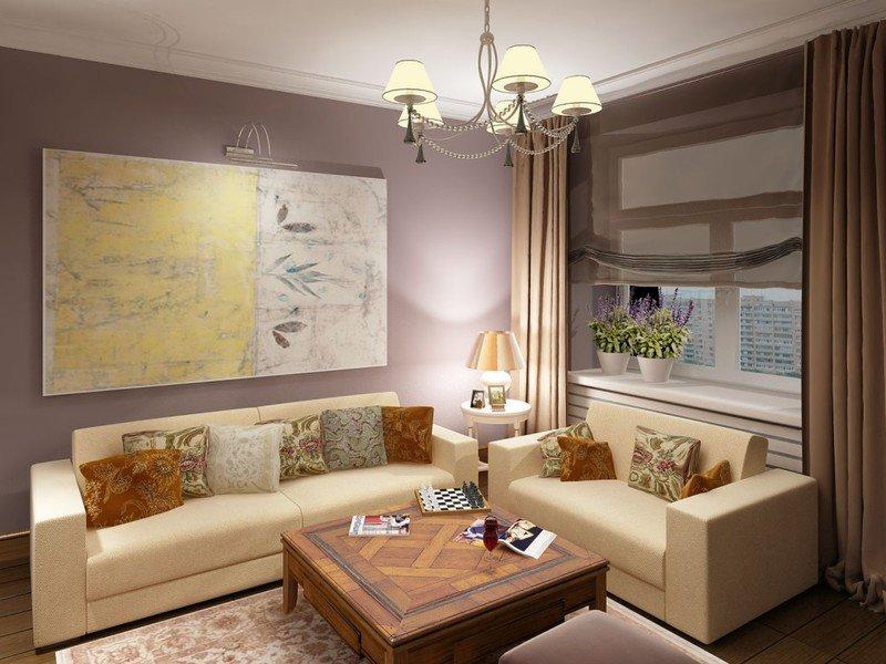 Маленькая гостиная с двумя диванами: удачные планировки на фото