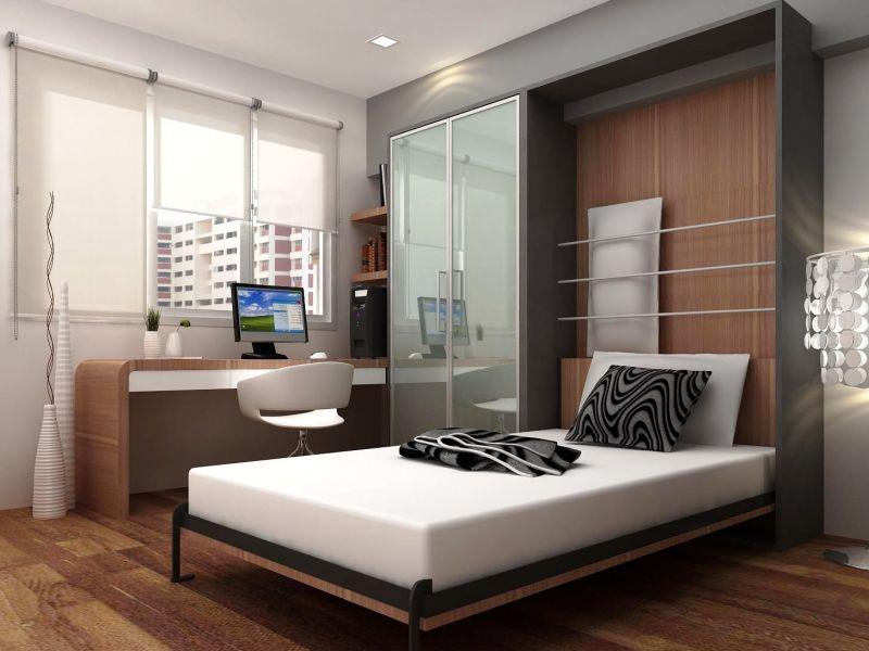 Дизайн маленьких спален с рабочим местом: интересные варианты на фото