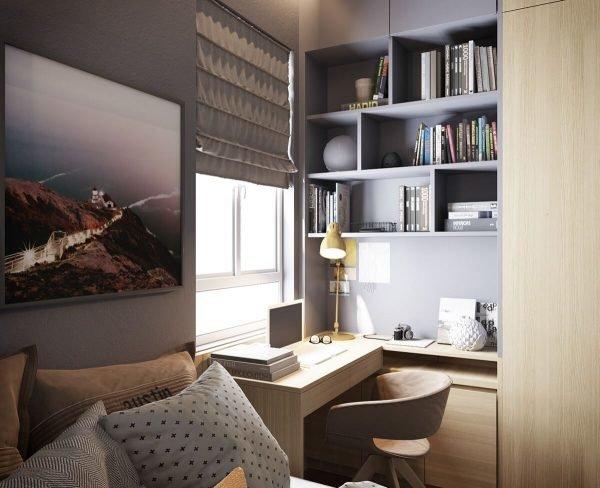 Спальня с рабочим местом