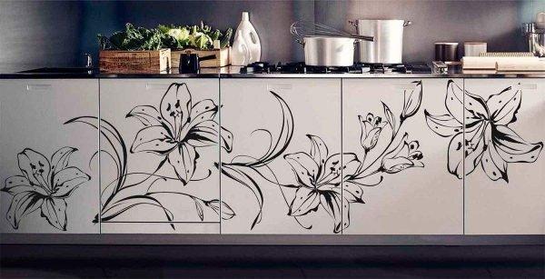 Рисунки на кухонном гарнитуре