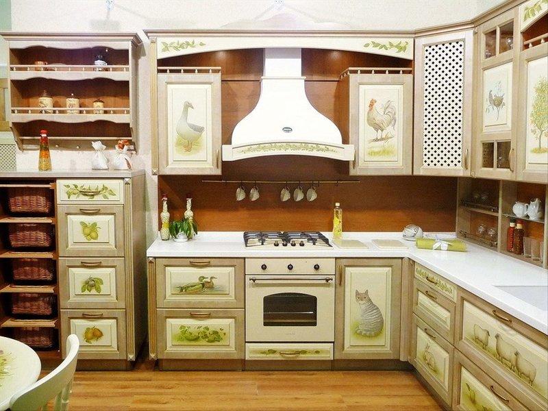 Украшения для кухонной мебели: идеи на фото