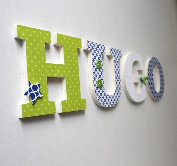 Декоративные буквы на стене