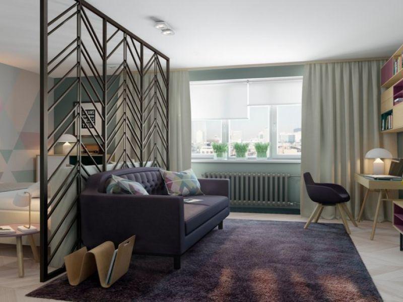 4 способа разделить большую комнату на спальню и гостиную