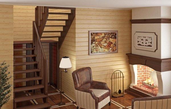как разместить лестницу в доме