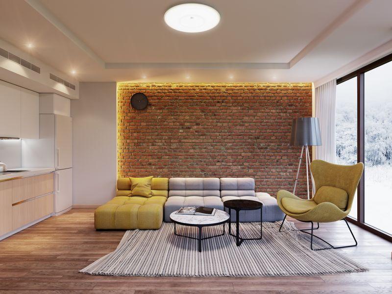С чем сочетается кирпичная стена: примеры интерьеров
