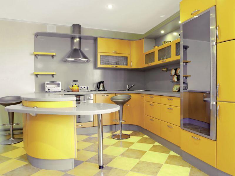 Интерьер кухни площадью 9 квадратов с барной стойкой: примеры на фото
