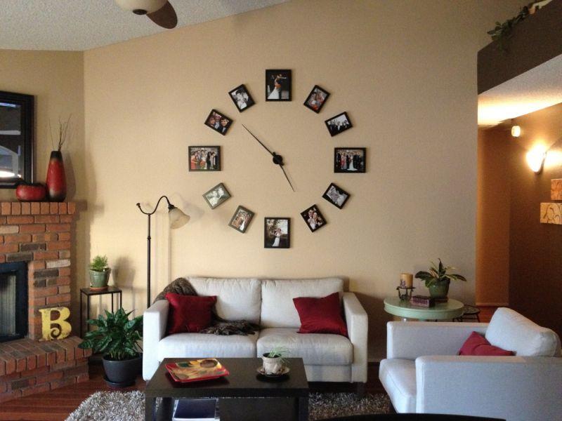 15 красивых настенных часов в гостиную (фото)