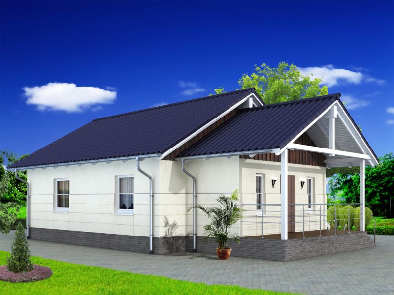 10 проектов одноэтажных домов до 60 кв. м