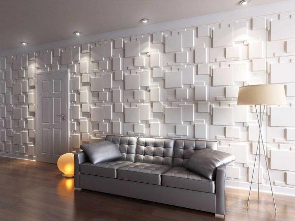 Объёмная геометрическая стена