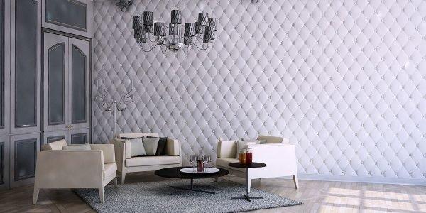 Объёмные стены в гостиной