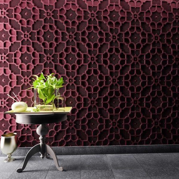 Объёмный узор на стене
