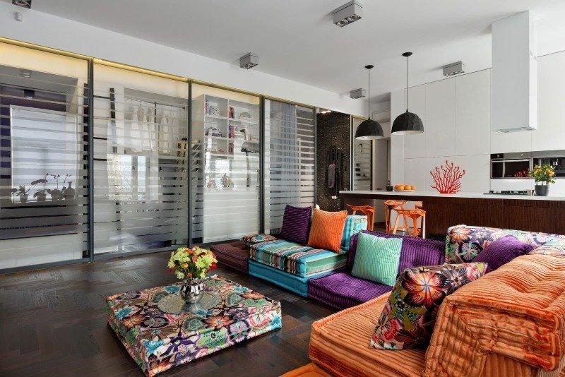 Как создать комфортный интерьер в стиле фьюжн в небольшой городской квартире: 10 фишек
