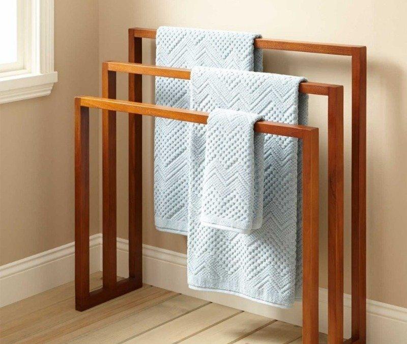 7 идей для хранения полотенец в бане